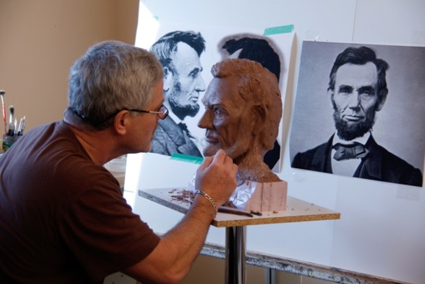 Bruce Lawes- Lincoln sculpture in progress (smaller file) (1)