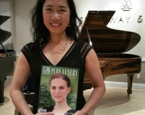 "Here's Helen Li, VP of the new posh glossy magazine ""Pure Luxury""."