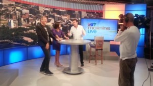 Above - David Merry (in white) performing for CTV Ottawa Morning Show