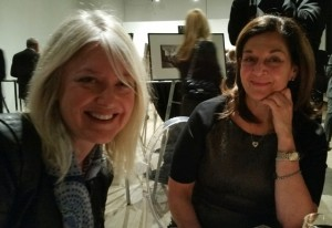 Danielle (left) joined my table for dinner and schmoozing.