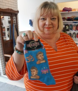 see my new Buddha socks!