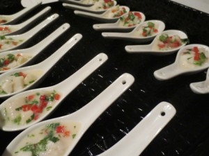 Seafood Kokoda Spoons