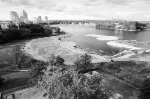 N. BUCZOK The View From A Mimico Balcony, black & white photographic print from film 20w x 16h $450 unframed