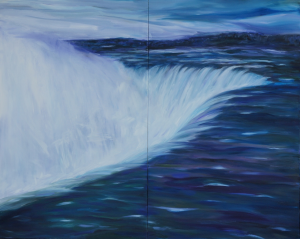 Canadian Icons (Niagara Falls diptych) 48 x 60 oil on canvas
