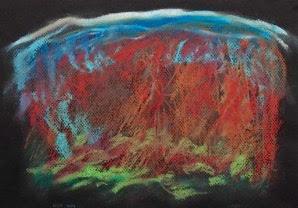 VISTA TRAIL framed Pastel 19x16