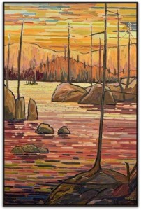 Nipigon Sunset Robert McAffee Oil on canvas $6800