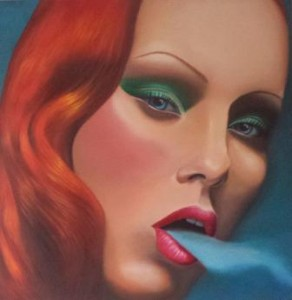 Smoking Lady Lola Kerecki  36x48 Oil on Canvas $2400 (1)