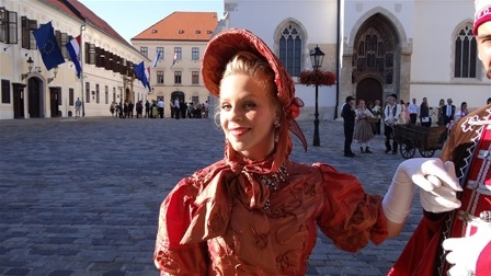 In costume, as part of renowned renaissance ensemble 'Marco Polo' from Zagreb