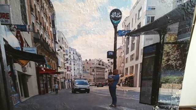 A Parisian street scene, given the Kostanski touch!