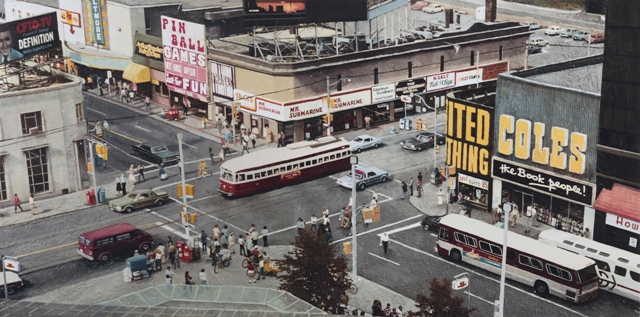 Hanna Kostanski YONGE AND DUNDAS 1978 acrylic on board
