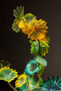 Dale Chihuly Sea Green and Yellow Persian Installation (detail), 2020 © Chihuly Studio. All Rights Reserved.