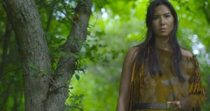 May (Sera-Lys McArthur) on the set of Heaven and Earth; A Ritual. Screen Shot