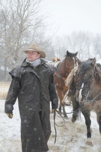 cowboy coat and hat